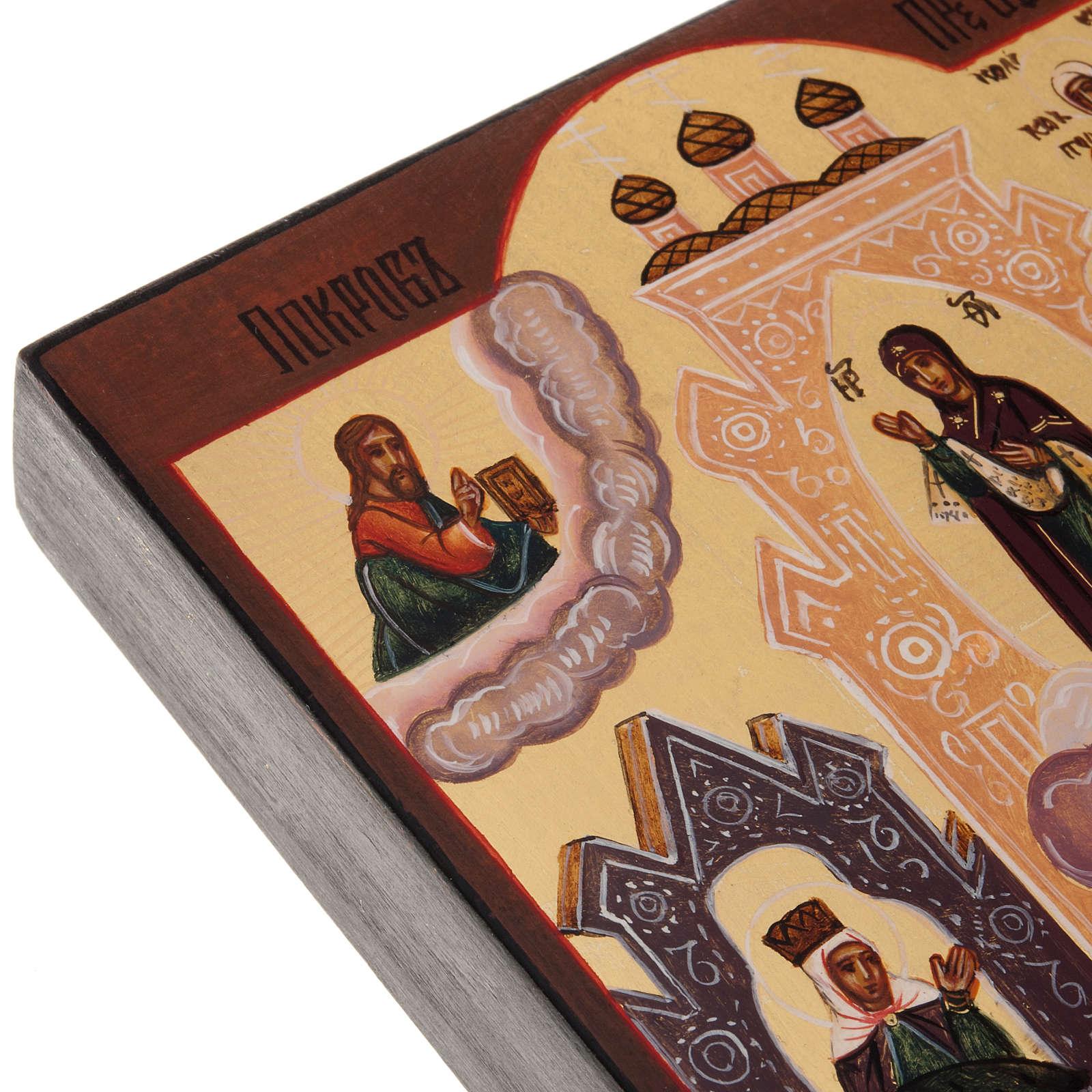 Icone Russe peinte Veil de Marie Pokrov 4