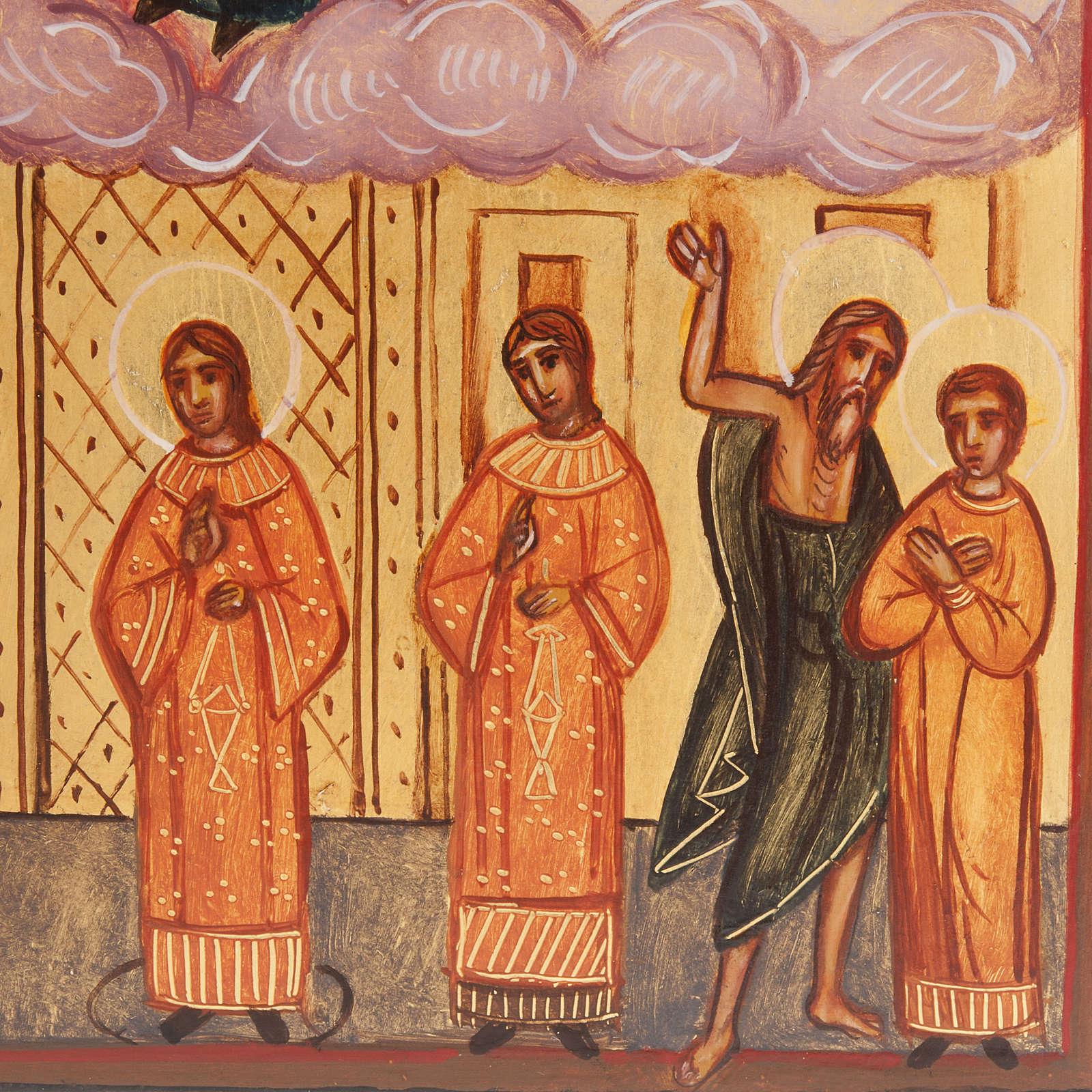 Ikona rosyjska malowana 'Welon Maryi' Pokrow 4