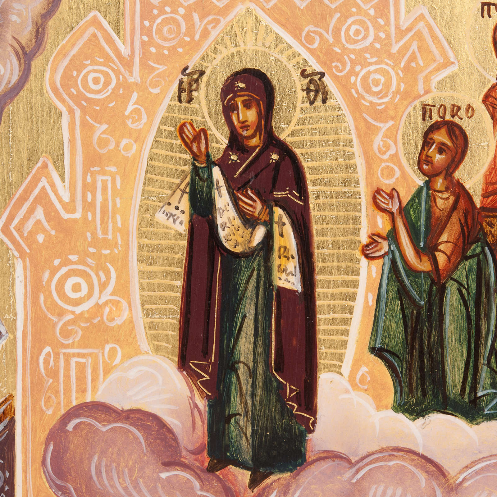 Russian icon Our Lady's veil of Pokrov 4