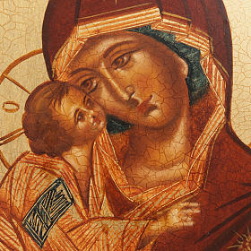 Icône Russe Mère de Dieu de Vladimir, Rublev s2