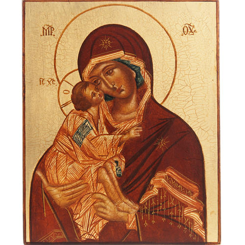Icône Russe Mère de Dieu de Vladimir, Rublev 1