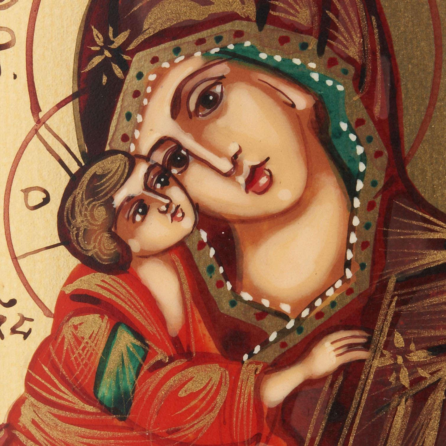 Icona miniatura Madre di Dio del Don Russia 6x9 4