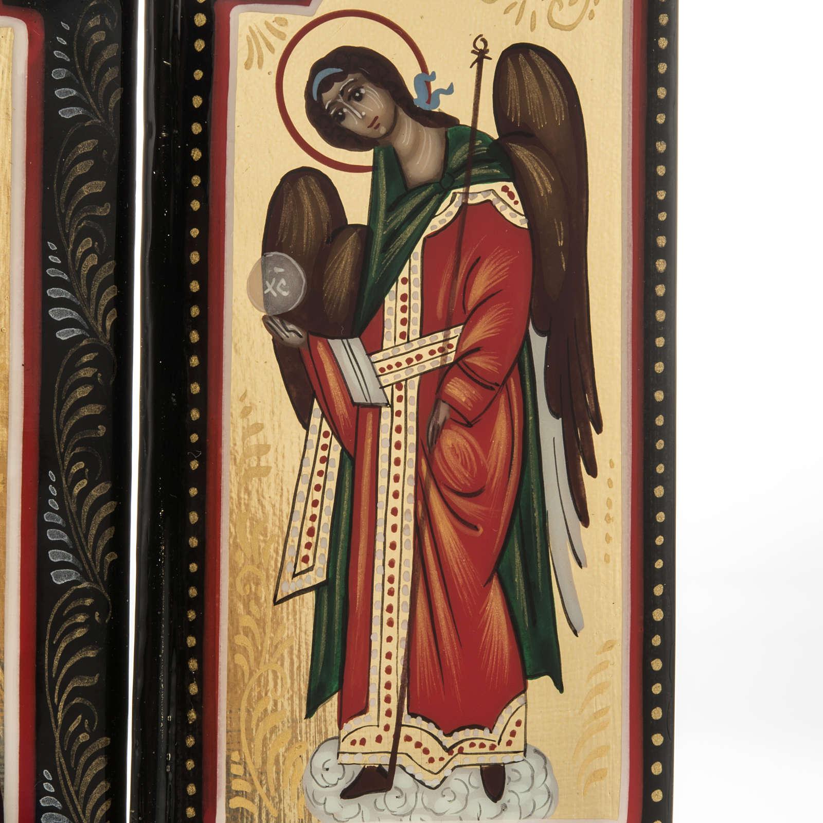 Trittico russo Mstjora Madre di Dio Odigitria 17,5x21 4