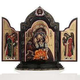 Trittico russo Mstjora Madre di Dio Odigitria 17,5x21 s1