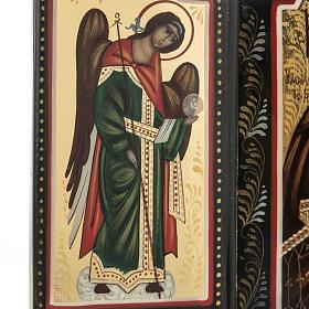 Trittico russo Mstjora Madre di Dio Odigitria 17,5x21 s4