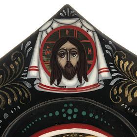Trittico russo Mstjora Madre di Dio Odigitria 17,5x21 s5