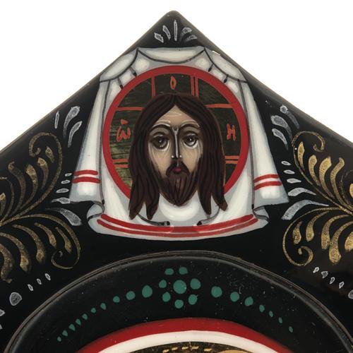 Trittico russo Mstjora Madre di Dio Odigitria 17,5x21 5