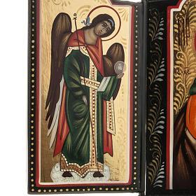 Trittico russo Mstjora Madonna della Tenerezza 17,5x21 s4