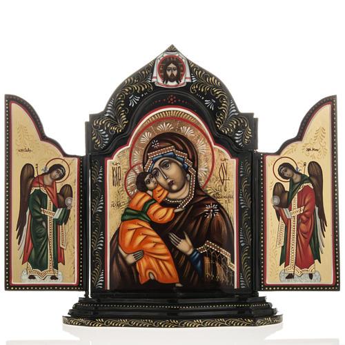 Trittico russo Mstjora Madonna della Tenerezza 17,5x21 1