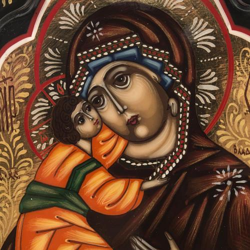 Trittico russo Mstjora Madonna della Tenerezza 17,5x21 2