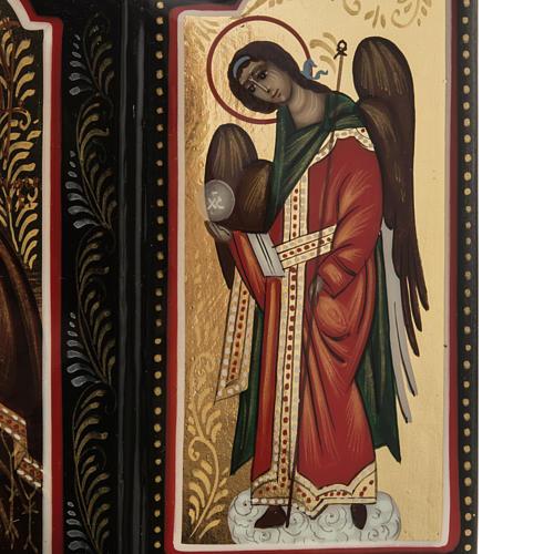 Trittico russo Mstjora Madonna della Tenerezza 17,5x21 3