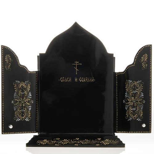 Trittico russo Mstjora Madonna della Tenerezza 17,5x21 6