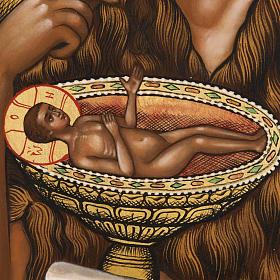 Icona Russia San Giovanni Battista 26x31 dipinta s3