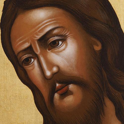 Icona Russia San Giovanni Battista 26x31 dipinta 2