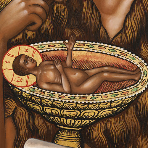 Icona Russia San Giovanni Battista 26x31 dipinta 3