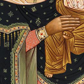 Icône russe Vierge Tendresse avec colombe 27x22 cm s4