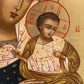 Icona Russia Madonna con colomba 27x22 s2