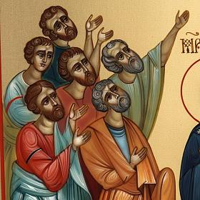 Icona Russia dipinta Ascensione 27x22 s5
