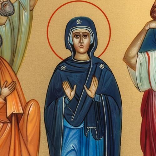 Icona Russia dipinta Ascensione 27x22 3