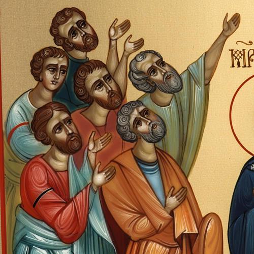 Icona Russia dipinta Ascensione 27x22 5