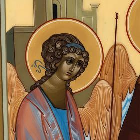 Icona Russia Santissima Trinità di Rublev 31x26 s3