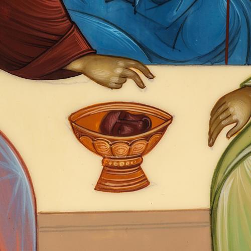 Icona Russia Santissima Trinità di Rublev 31x26 5
