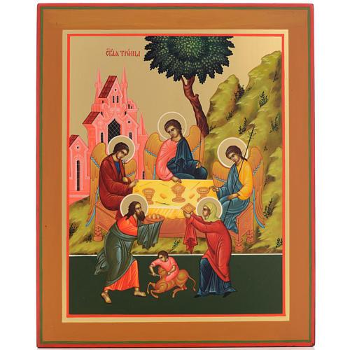 Icona Russia Santissima Trinità 31x26 1