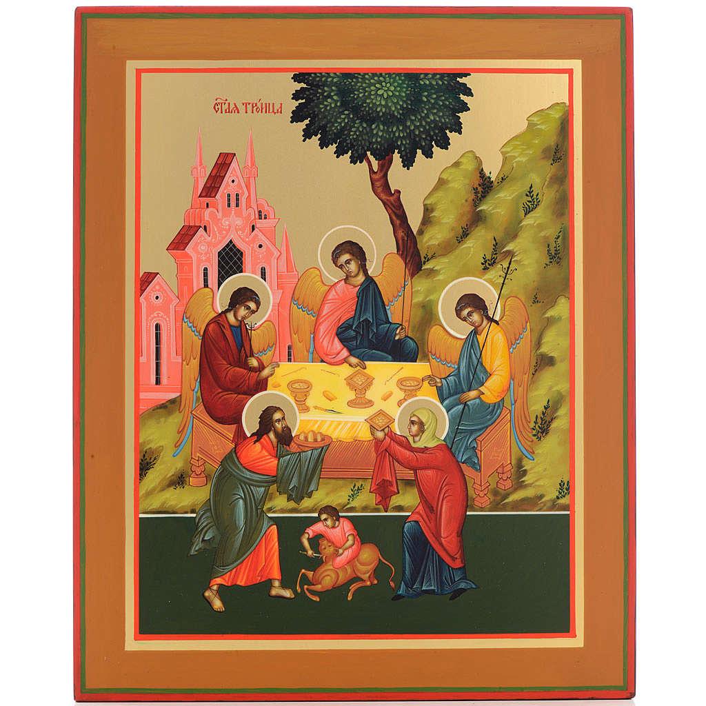 Russian icon, Holy Trinity 31x26cm 4
