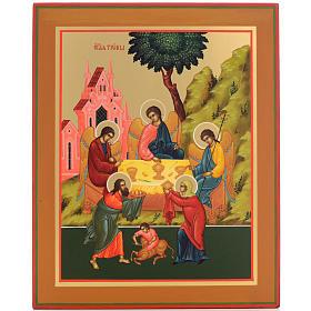 Russian icon, Holy Trinity 31x26cm s1