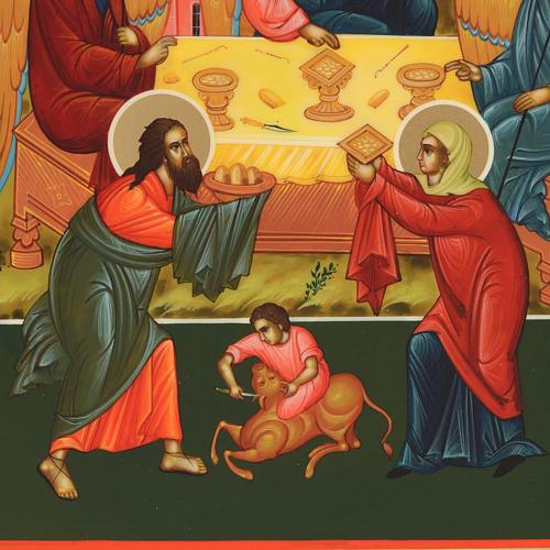 Russian icon, Holy Trinity 31x26cm 2