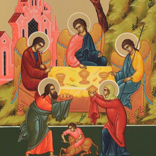 Russian icon, Holy Trinity 31x26cm 3