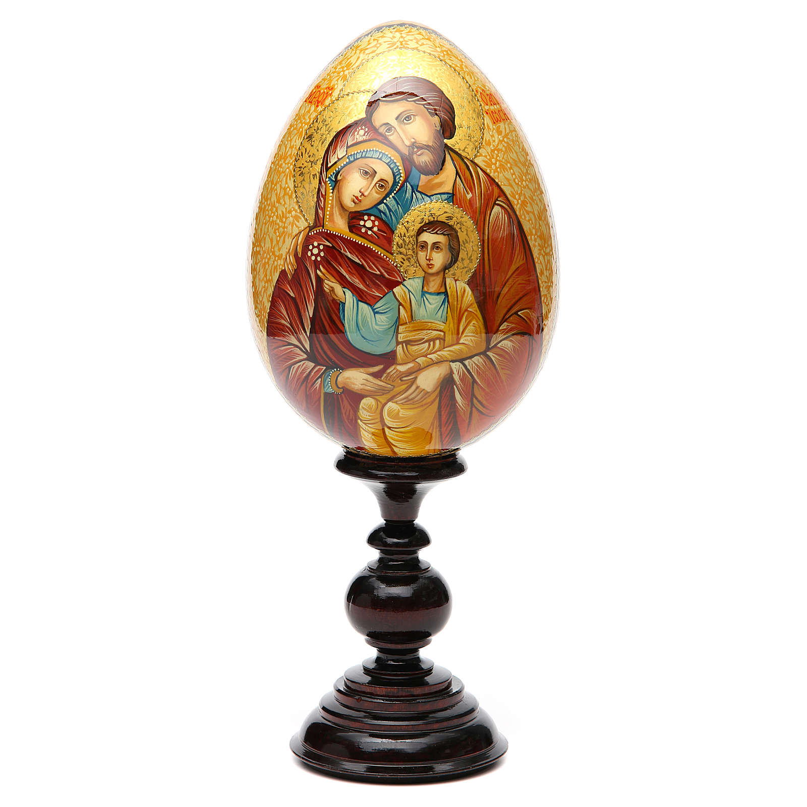 Russian icon egg, Holy Family 4