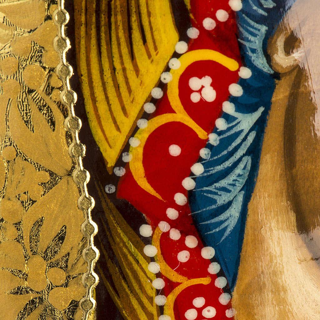 Uovo Icona Russia Vergine Kazan DIPINTO A MANO 4