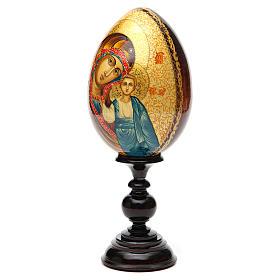 Uovo Icona Russia Vergine Kazan DIPINTO A MANO s2