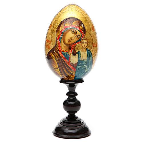 Uovo Icona Russia Vergine Kazan DIPINTO A MANO 1