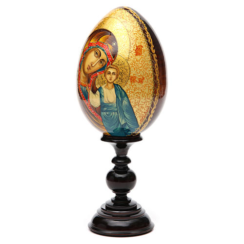 Uovo Icona Russia Vergine Kazan DIPINTO A MANO 2