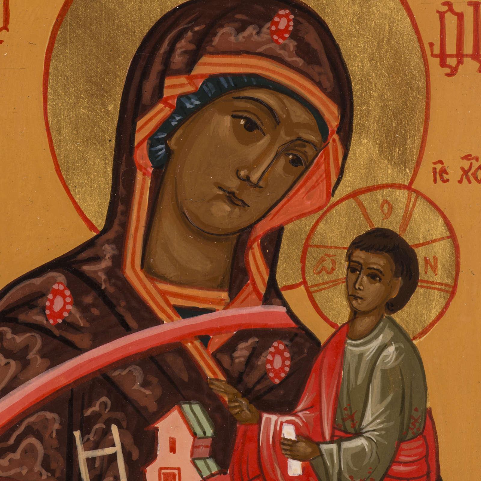 Icône Russie Mère de Dieu Montagne peinte 18x12 cm 4