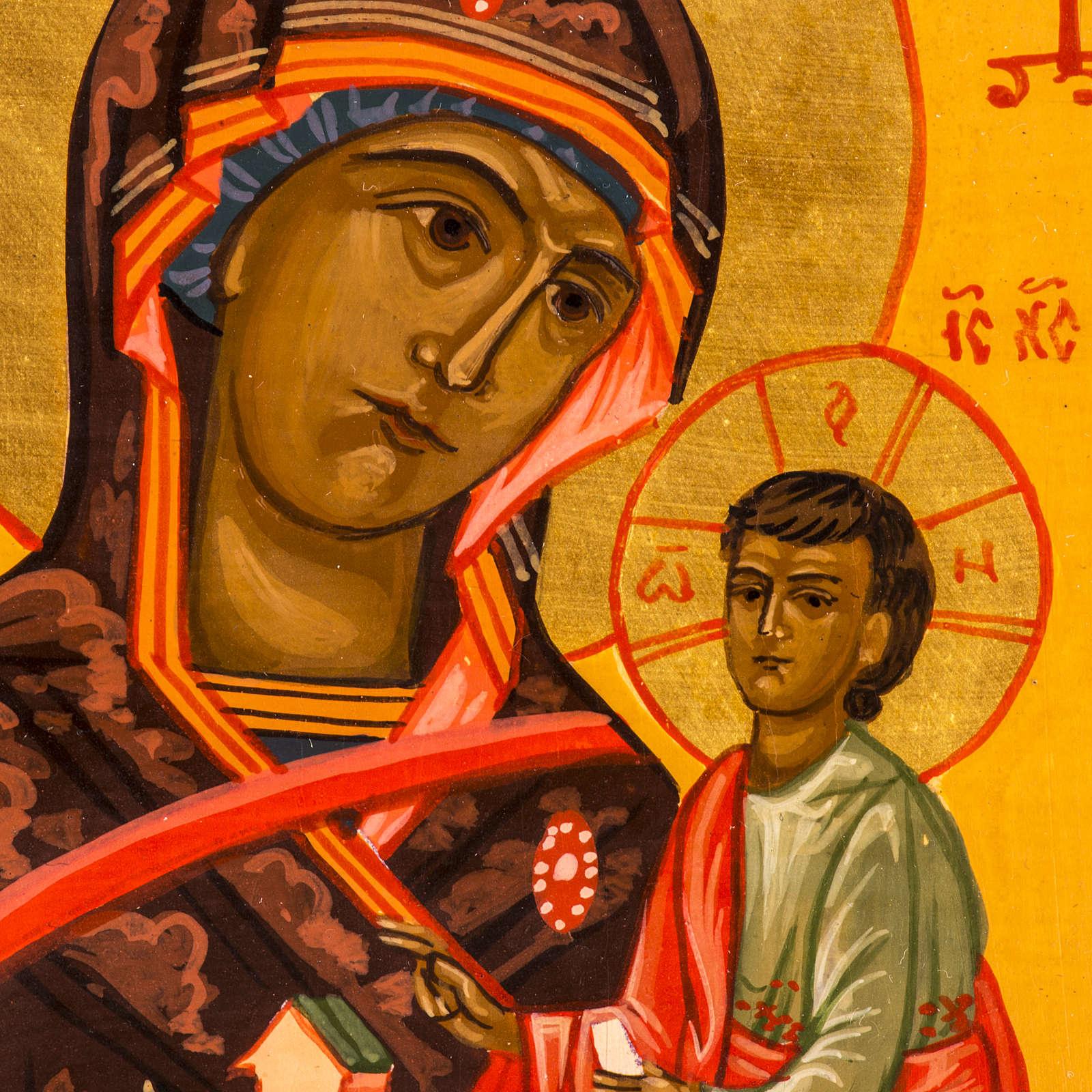 Ícono Ruso Madre de Dios Montaña 20x17 pintada 4