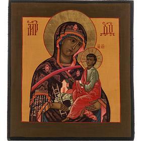 Icona Russa Madre di Dio Montagna dipinta 20x17 s1