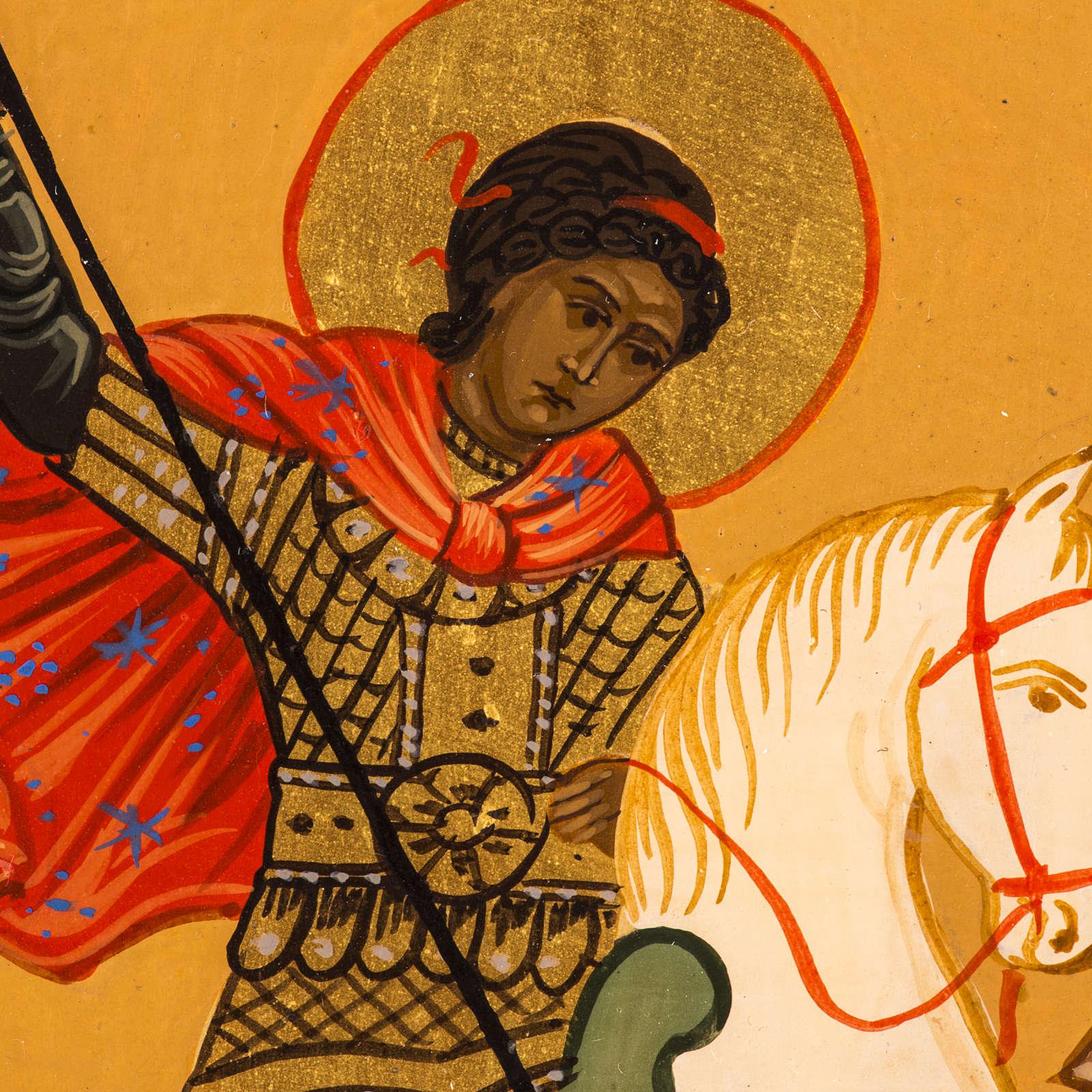 Icona Russa San Giorgio dipinta 18x12 4