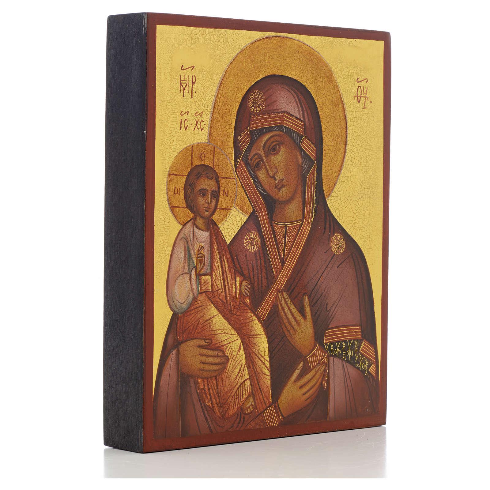Icona russa Madonna delle tre mani 14x11 cm 4