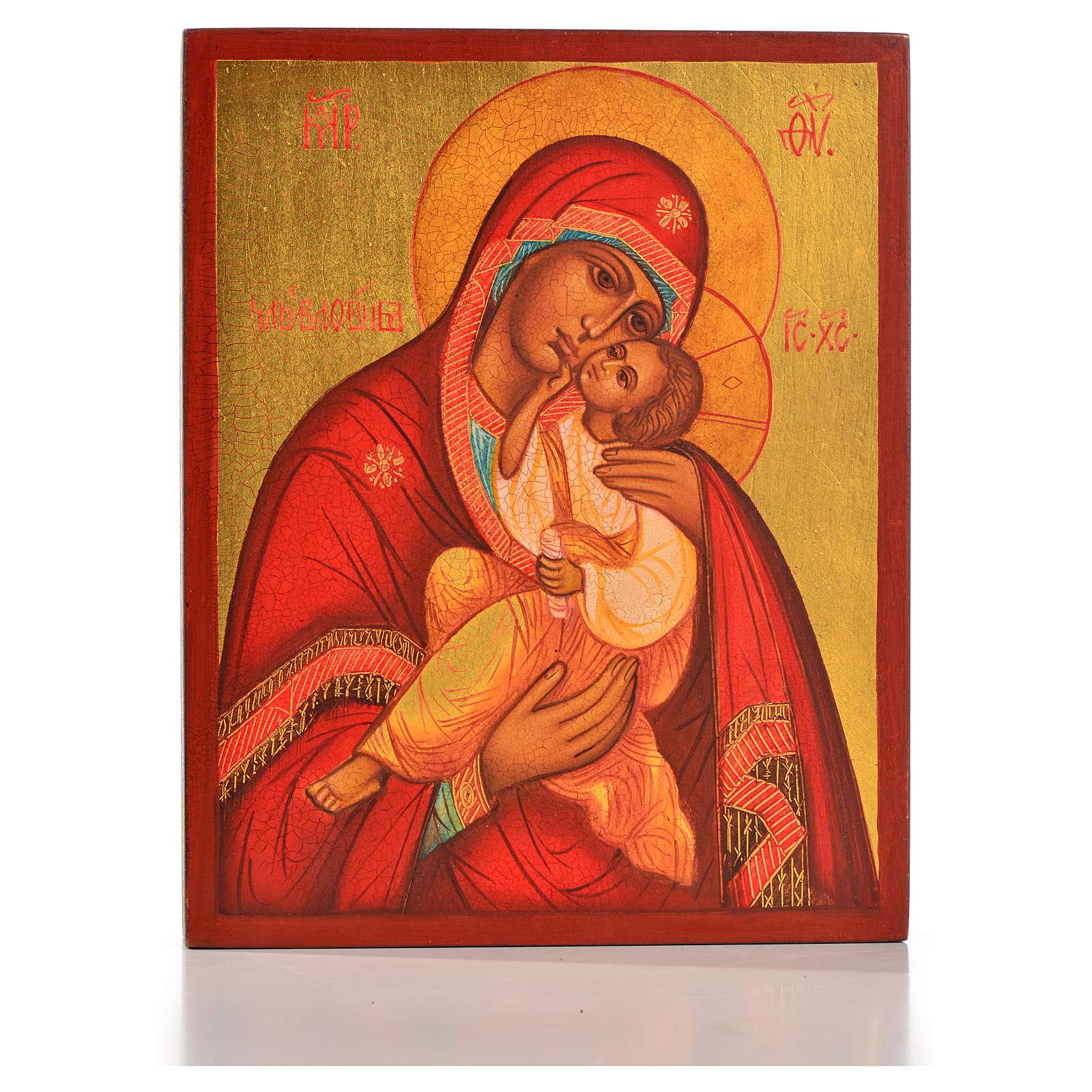 Icona russa Madonna della tenerezza Umilenie 4