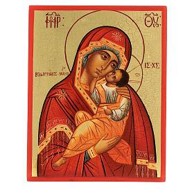Icona russa Madonna della tenerezza Umilenie 14x10 cm s1
