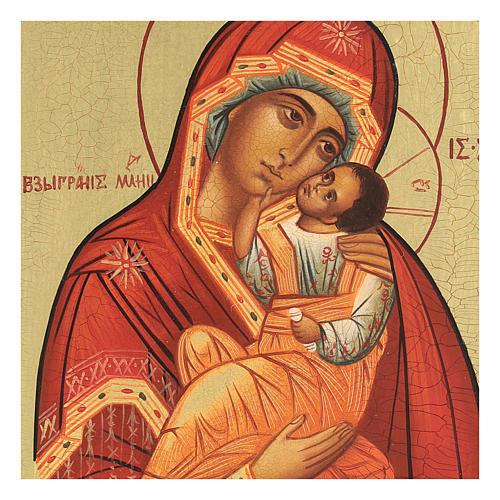 Icona russa Madonna della tenerezza Umilenie 14x10 cm 2