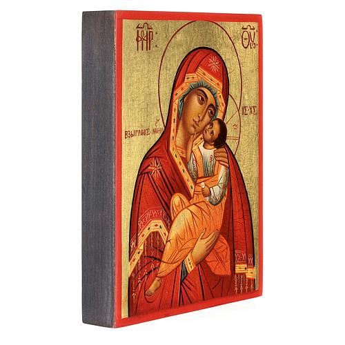 Icona russa Madonna della tenerezza Umilenie 14x10 cm 3