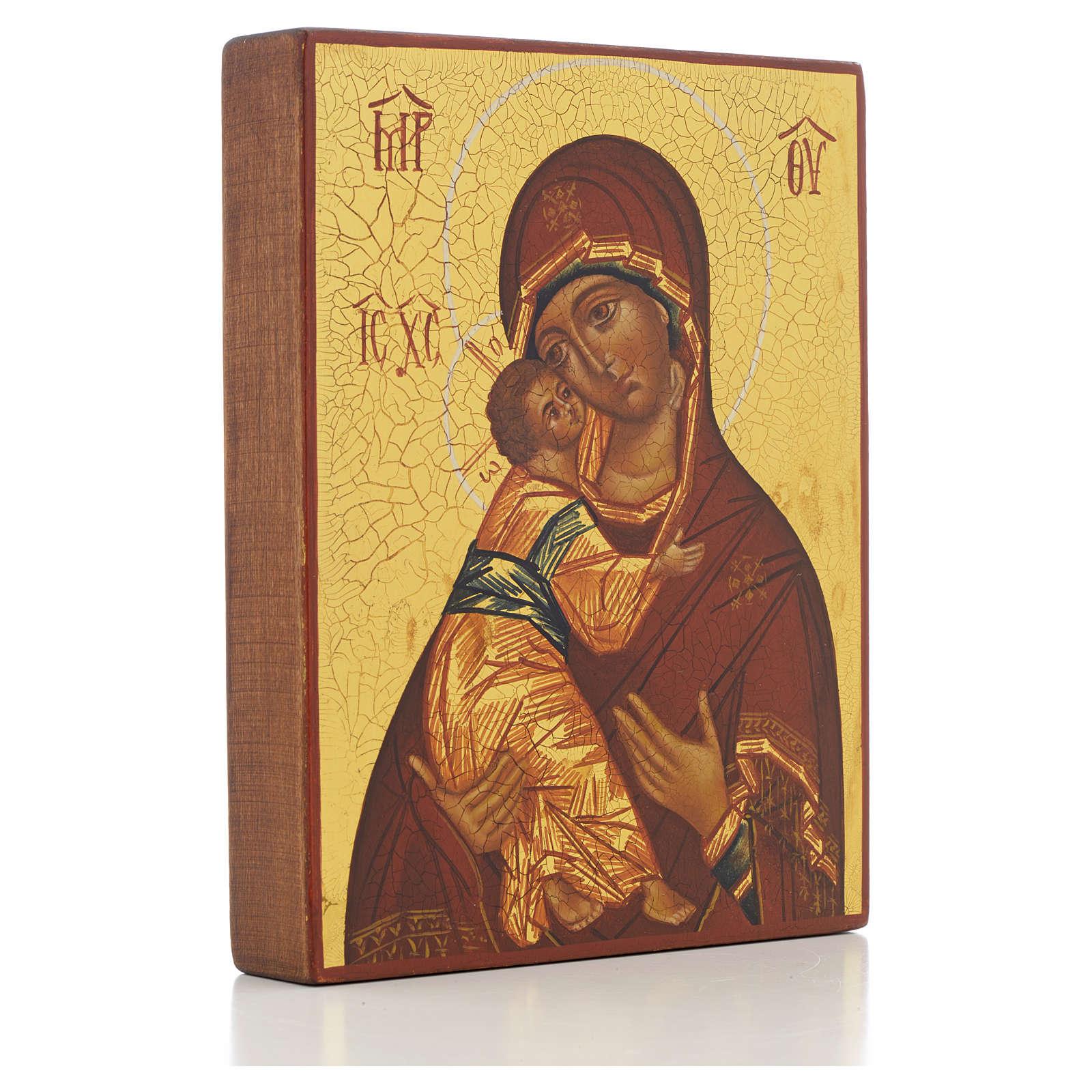 Ícono ruso Virgen de Vladimir de Rublev 4