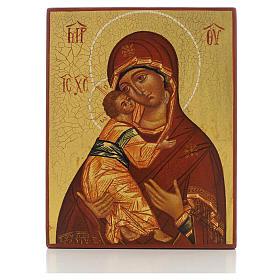 Icona russa Madonna di Vladimir di Rublev s1