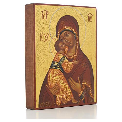 Icona russa Madonna di Vladimir di Rublev 2
