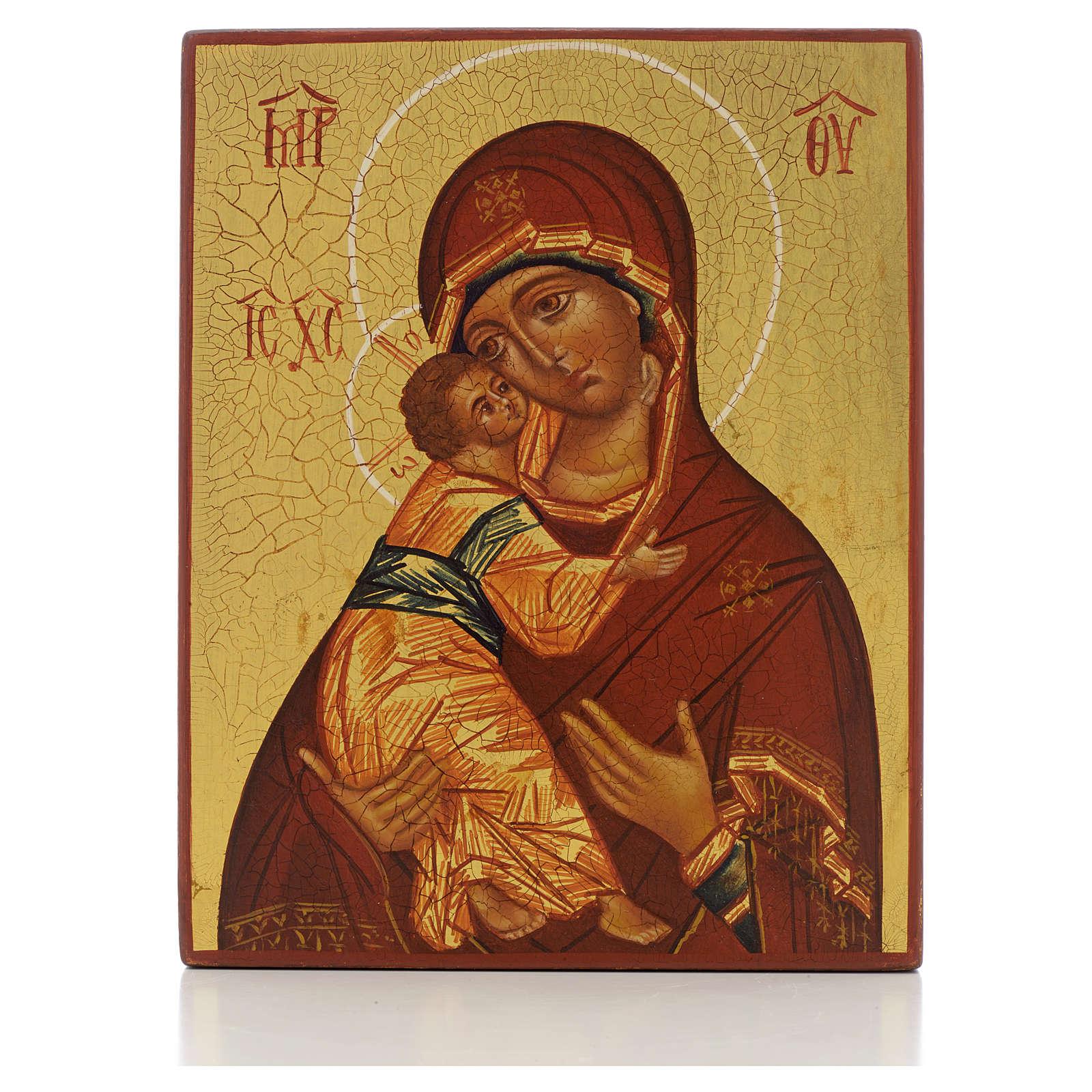 Ikona rosyjska Madonna Włodzimierska Rublow 4