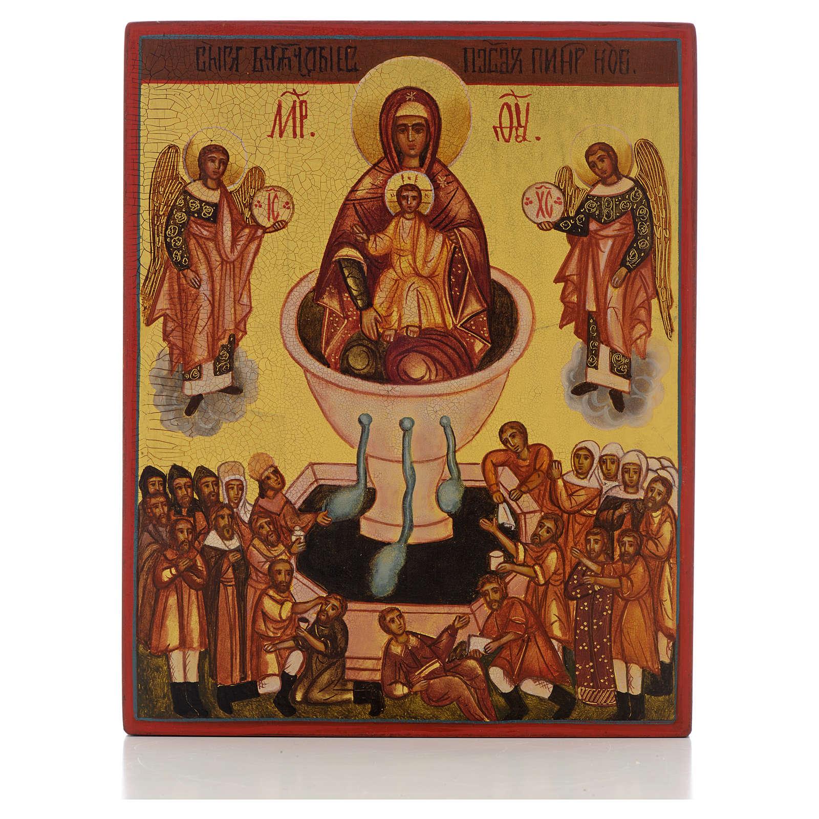 Icona russa Madre di Dio sorgente di vita